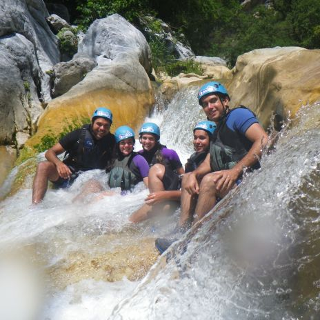 Canyoning with night before