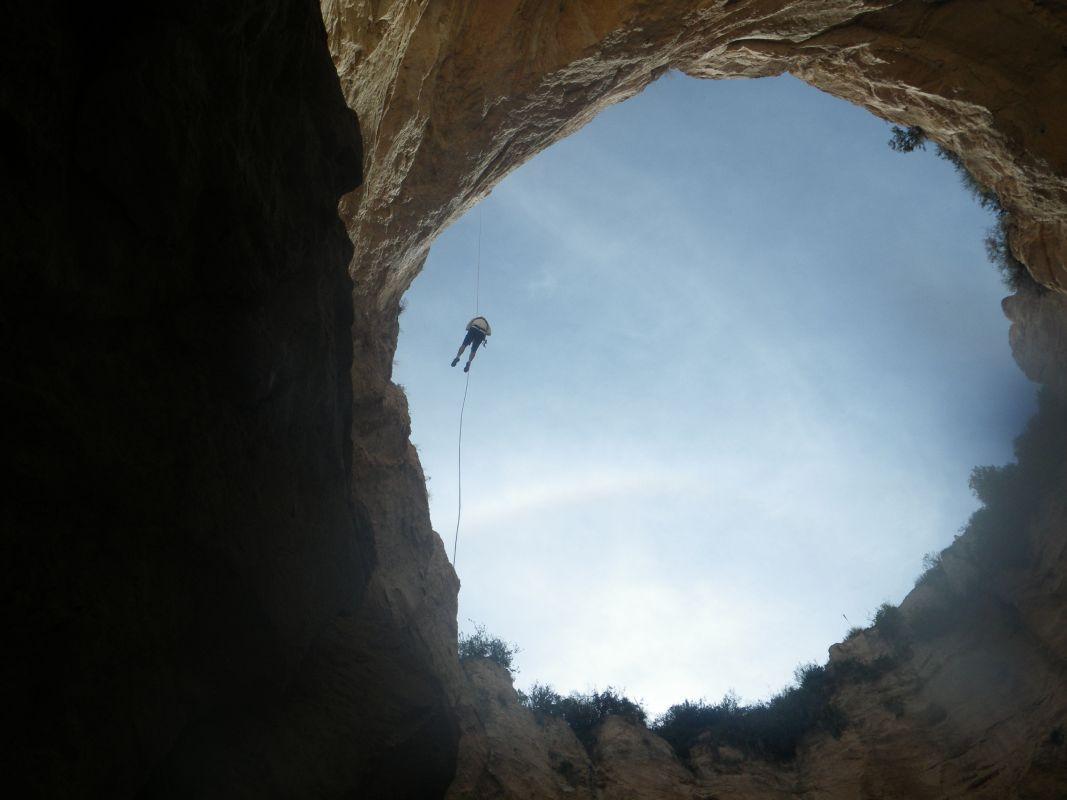 Pozo del Gavilán desde las profundidades.